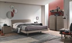 letto clio in legno color frassino chiaro outlet sconto
